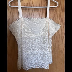 Coldwater Creek Ivory Camisole/Tank